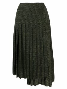 Fendi asymmetric pleated skirt - Green