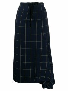 McQ Alexander McQueen high-waisted check print skirt - Blue