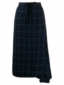 McQ Alexander McQueen high-waisted check print skirt - Blue