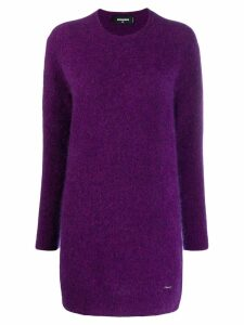 Dsquared2 knitted tunic jumper - Purple