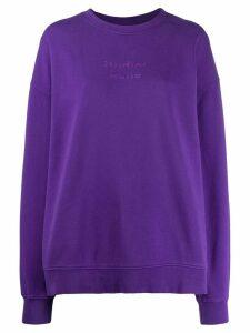 Acne Studios broken logo print sweatshirt - Purple