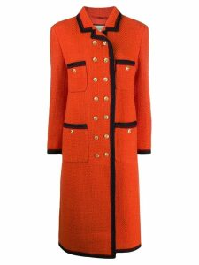 Gucci double-breasted tweed coat - Orange