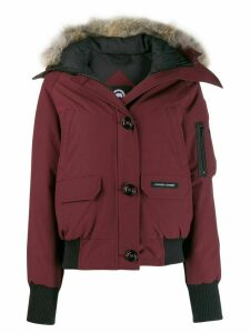 Canada Goose trimmed hood puffer jacket - Red
