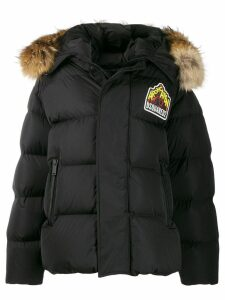 Dsquared2 logo parka coat - Black