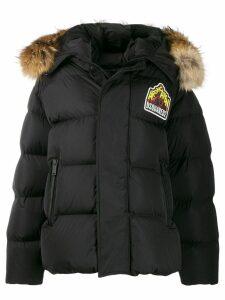 Dsquared2 logo parka coat - Black