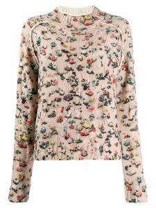 Acne Studios crowd print sweater - Pink