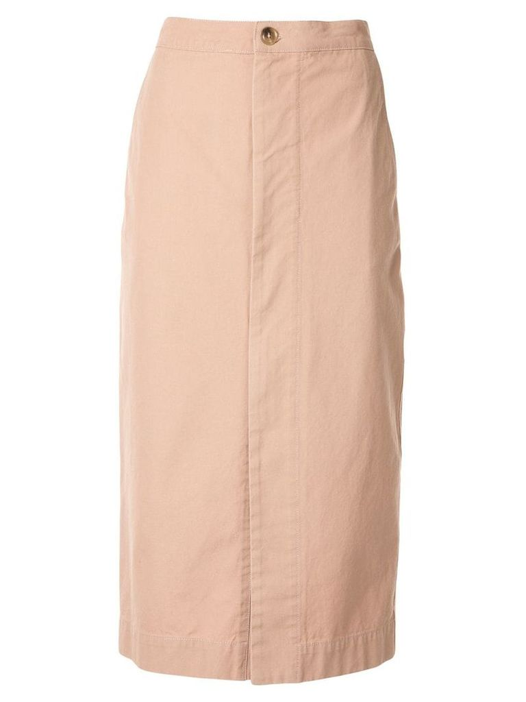 Bassike zip front canvas skirt - Pink