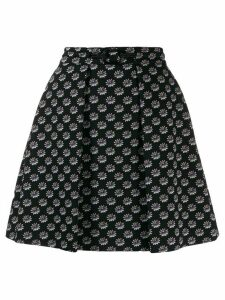 Kenzo floral embroidered skirt - Black