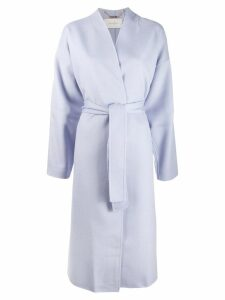 Zimmermann Espionage wrap coat - Blue