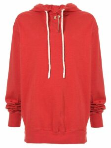 Bassike double jersey hoodie - Red