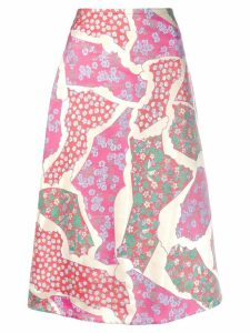 Marni patchwork skirt - Pink