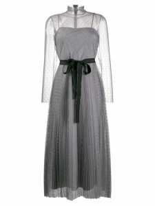 Red Valentino high neck tulle dress - Grey