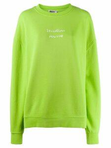 Acne Studios broken logo print sweatshirt - Green