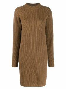 Acne Studios ribbed knit dress - Brown