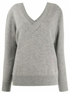 Victoria Beckham double v-neck jumper - Grey