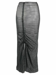 Oseree metallic gathered skirt