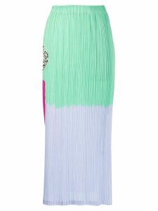 Pleats Please Issey Miyake pleated midi skirt - Green