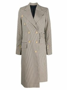 Eudon Choi checked pattern coat - Neutrals