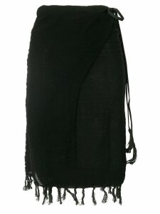 Caravana Pareo fringed skirt - Black