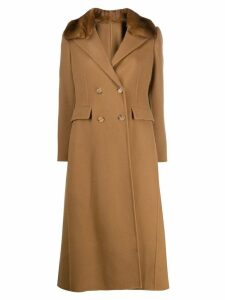 Ermanno Scervino fur-collar trenchcoat - Brown