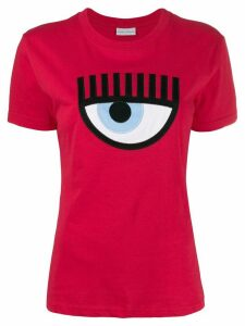 Chiara Ferragni eye appliqué T-shirt - Red