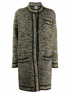 M Missoni tweed miid coat - Black