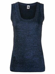 M Missoni metallic scoop neck vest - Blue