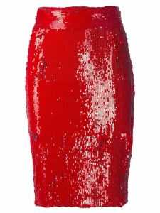 Dondup embellished pencil skirt - Red