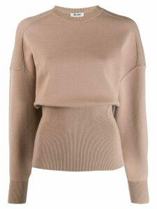 Acne Studios voluminous crew neck sweater - Neutrals