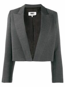 Mm6 Maison Margiela cropped tailored blazer - Grey