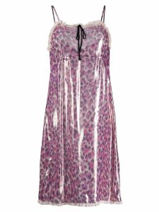 Miu Miu metallic leopard dress - Pink