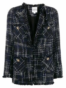 Edward Achour Paris fitted tweed blazer - Blue