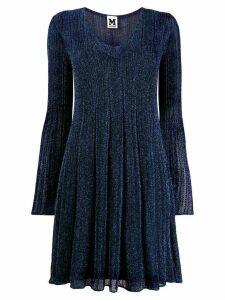M Missoni metallic V-neck dress - Blue