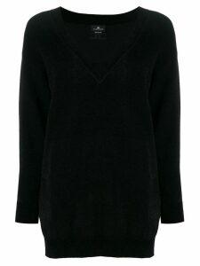Elisabetta Franchi V-neck knitted dress - Black