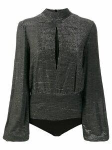 Dondup metallic long sleeve body - Black