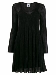 M Missoni long sleeve ribbed dress - Black