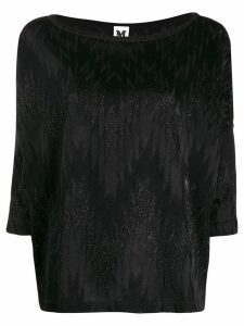 M Missoni zig zag pattern knitted top - Black
