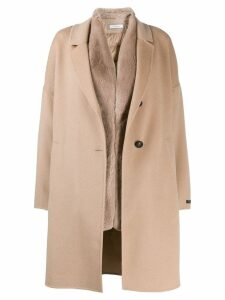 Peserico single breasted coat - Brown