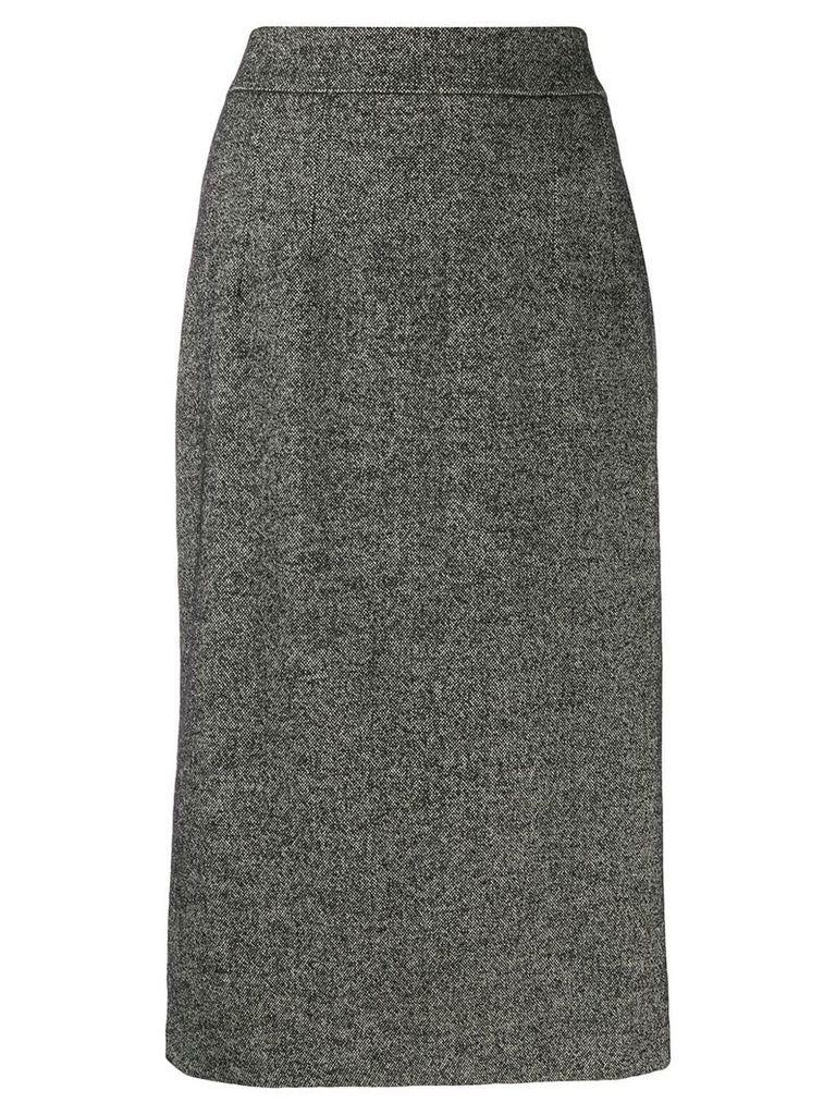 Dolce & Gabbana fluted tweed skirt - Black