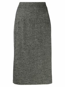 Dolce & Gabbana fluted tweed skirt - Black