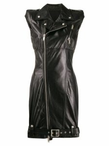 Unravel Project sleeveless biker dress - Black