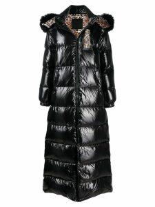 Philipp Plein shiny padded long coat - Black