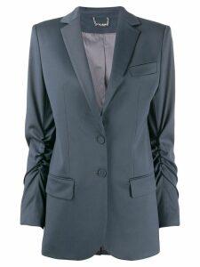 Styland ruched blazer - Grey