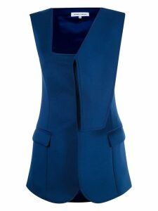 Gloria Coelho asymmetric vest - Blue