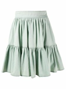 Miu Miu pleated denim skirt - Green