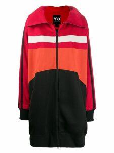 Y-3 colour contrast logo jacket - Black