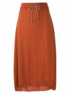 Fabiana Filippi drawstring mid-length skirt - Brown