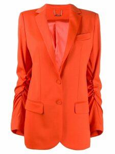 Styland ruched blazer - Orange