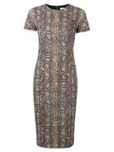 Victoria Beckham fitted T-shirt dress - Brown