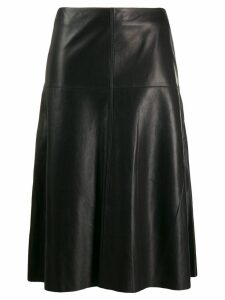Arma a-line leather skirt - Black